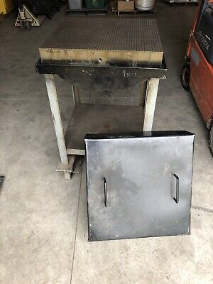 Challenge Machinery Co. 24 X 24 Lapping Plate W Standcart Lid 41 Tall