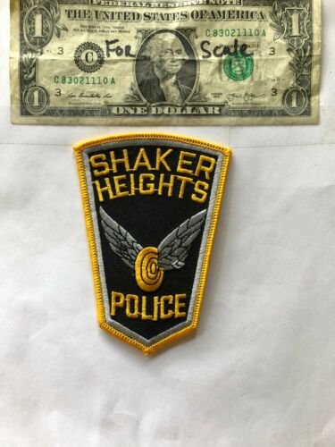 Shaker Heights Ohio Police Patch un-sewn mint shape