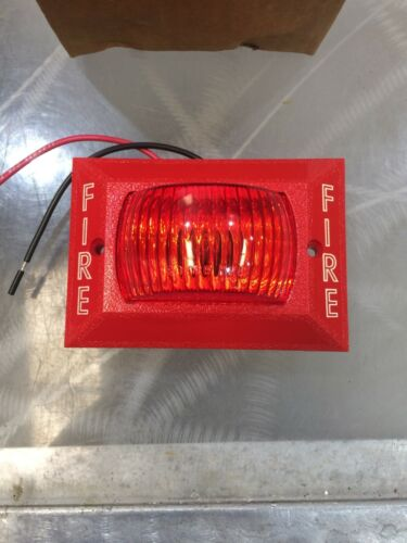 Vintage Space Age Electronics V-33, 24 VDC Red Visual Fire Alarm - FREE SHIPPING