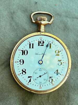 Antique Hamilton Pocket Watch 974 17 Jewel Lever Set Missing bezel, 2nd hand