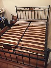 Queen Size Metal Frame Slat Bed Fairlight Manly Area Preview