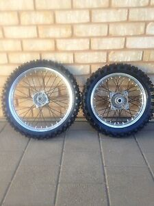 KTM 85sx small wheels rims with tyres 17/14 Moonta Bay Copper Coast Preview