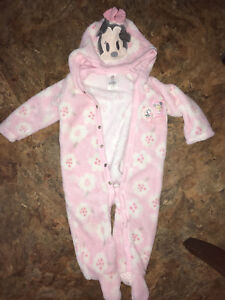 Minnie Mouse fleece suit