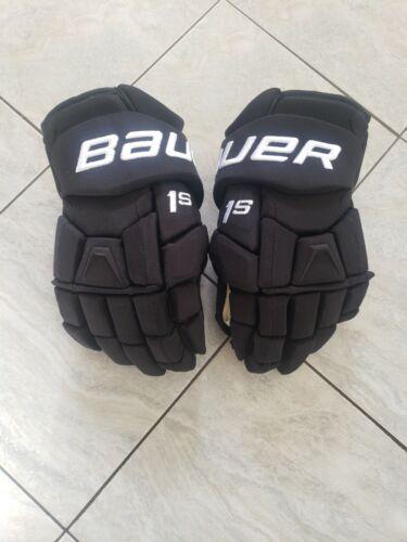"Bauer 1s Union pro stock hockey gloves, new, 14"", poron"