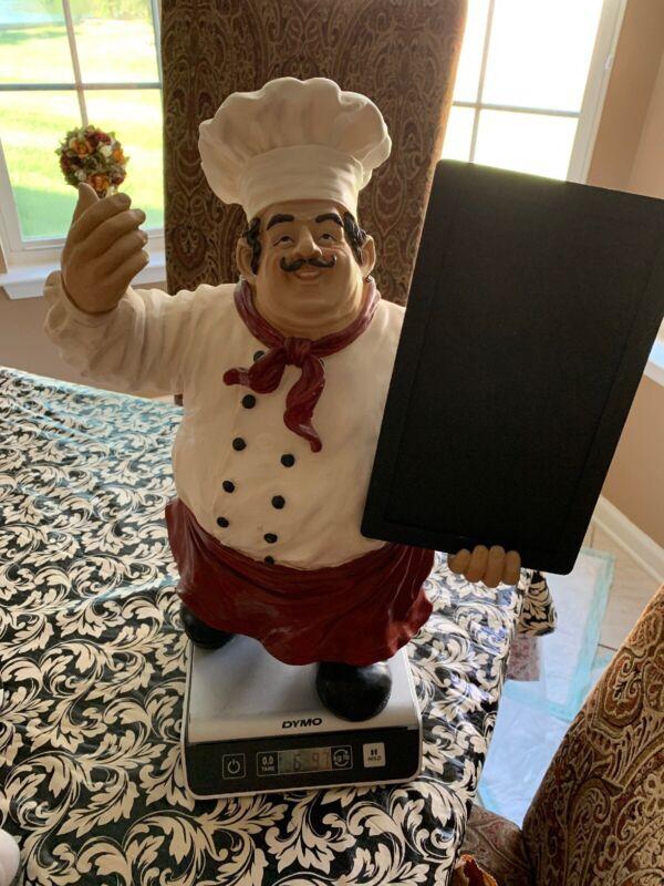 "Vtg The Proud Chef Statue Figurine Display 19"" Tall Top Kitchen/Restaurant"