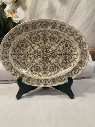 "ANTIQUE W T COPELAND & SONS 1880 BLUE TRANSFERWARE ROME PLATE 8 3/4"" Aesthetic"