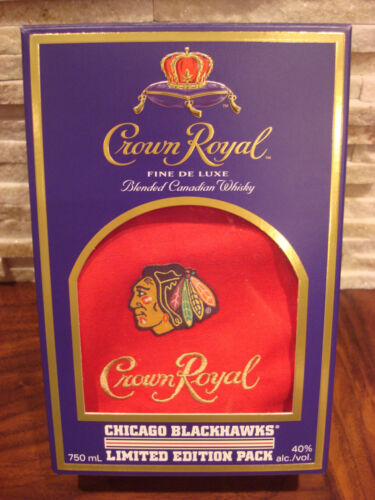 CROWN ROYAL CHICAGO BLACKHAWKS LIMITED EDITION PACK BAG & BOX - BRAND NEW