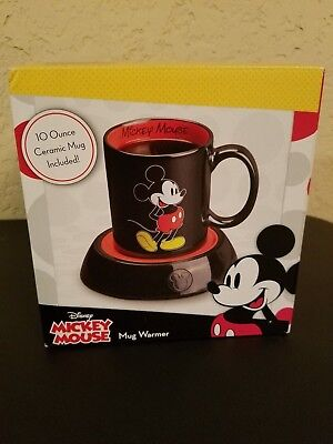 Mickey Mouse Cup Warmer Ceramic Walt Disney World Coffee Tea Soup Mug Electric