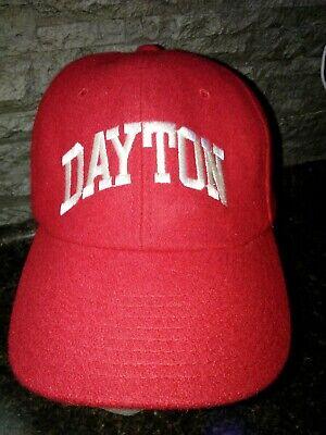 VTG. CHAMPION DAYTON FLYERS UD Strapback Cap Hat Rare 80's WOOL CLEAN ITEM EC