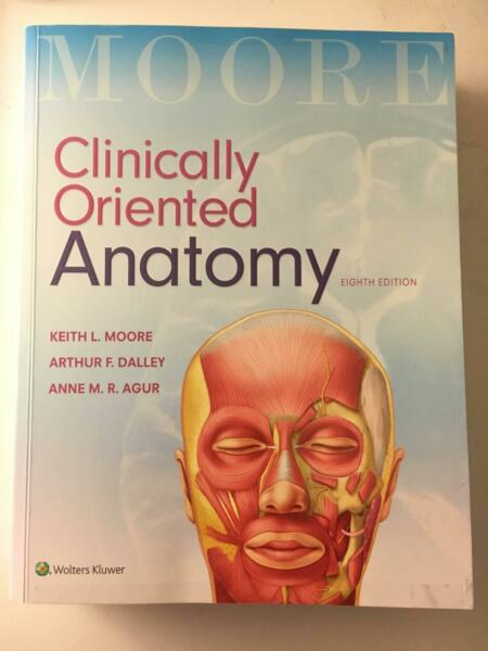 Moore Clinically Oriented Anatomy 8th edition | Textbooks | Gumtree ...