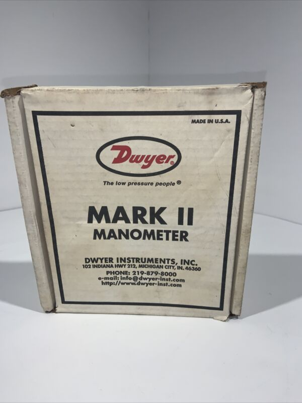 Dwyer Series Mark II Model 25 Molded Plastic Manometer Inclined Vertical Scale