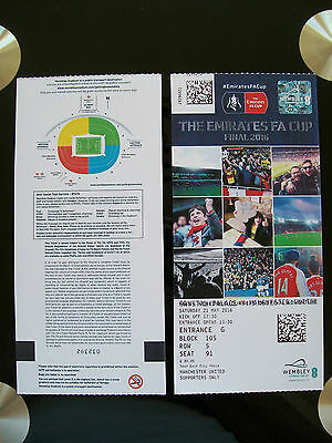 2016 F A Cup Final Ticket Manchester United v Crystal Palace in mint condition.