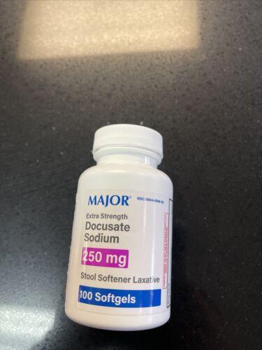 Major Docusate Sodium 250mg HIGH DOSE Stool Softener 100ct Softgels - $9.99