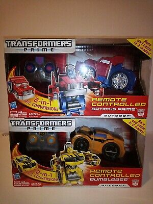 Transformers Prime Remote controlled Optimus & Bumblebee action figure Racers