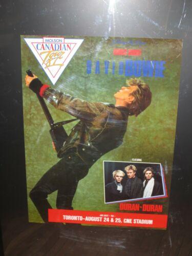 David Bowie w/ Duran Duran Concert Poster Glass Spider Tour C.N.E. Stadium 1987
