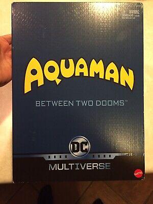 DC Multiverse Between Two Dooms Aquaman Ocean Master Black Manta Figure SET