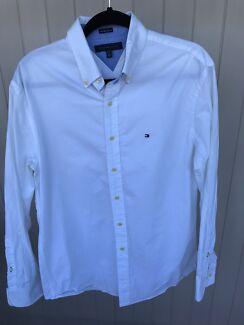Tommy Hilfiger White long sleeve men's shirt
