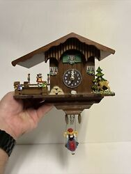 Black Forest Cuckoo Clock Quartz Movement In Working Order! Made in Germany!