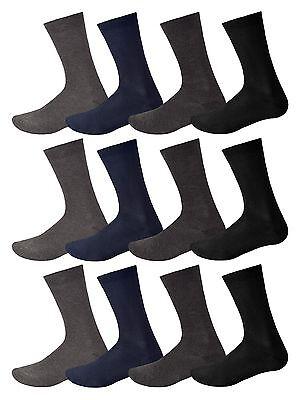 Soft Cotton Argyle Socks - 12 Pairs Mens Cotton Soft Socks Casual Dress Suit Socks Black Assorted & Argyle