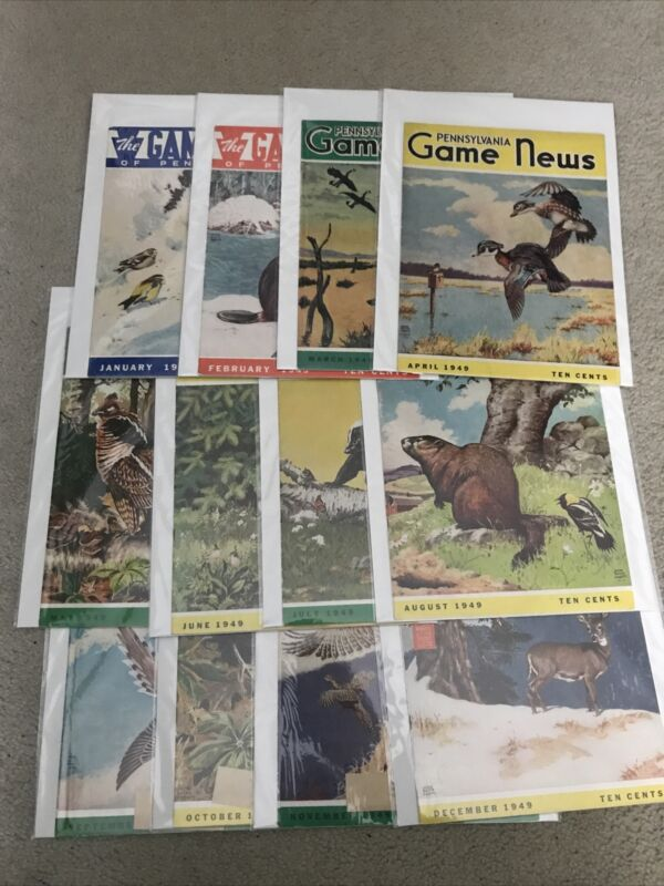 PA Pennsylvania Game News Magazine Complete Year 1949 Game Commission