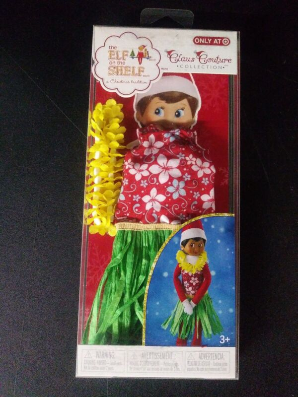 New Elf on the Shelf Claus Couture Holiday Hula Wear Clothing. Fash Free Shippin