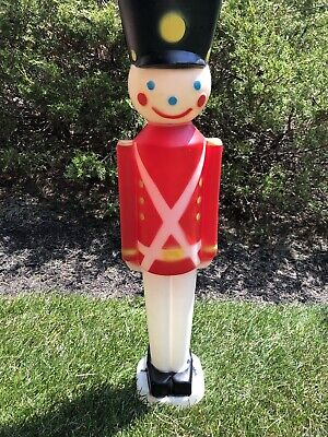 Empire Toy Soldier Nutcracker Blow Mold Lighted 30""