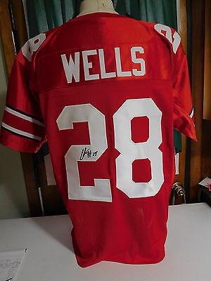 Chris Beanie Wells signed  Browns Jersey, COA. #28 Chris Beanie Wells