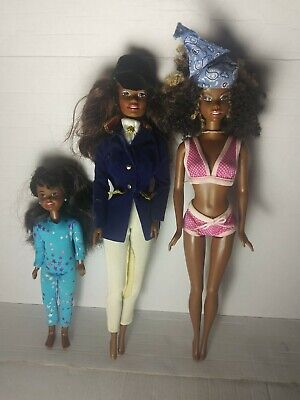 African American Barbie doll lot- Cali Girl, Horse riding club, gymnastics Janet