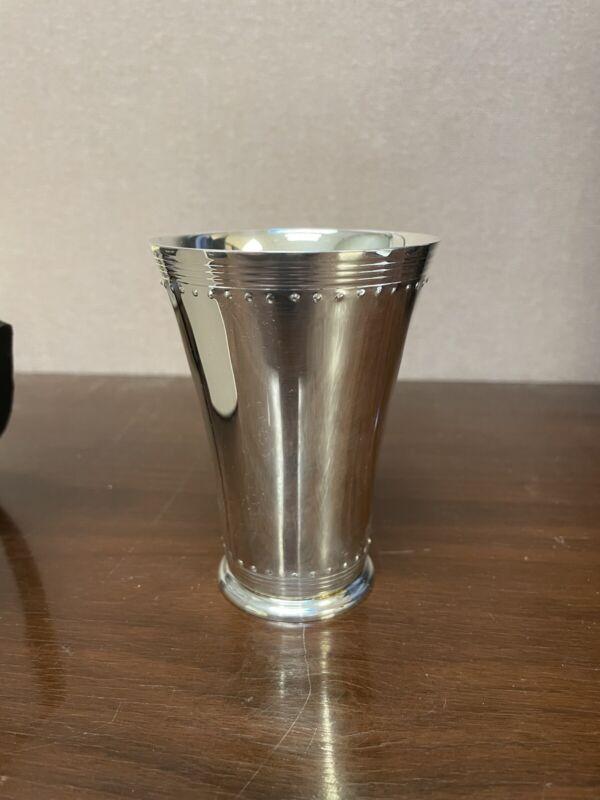 Vera Wang .999 Silverplated Grosgrain Mint Julep Cup
