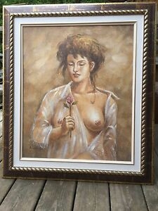 Beautifully Framed Painting on canvas signed
