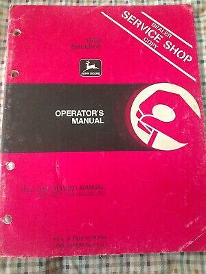 John Deere 1650 Backhoe Operators Manual Om-a43093