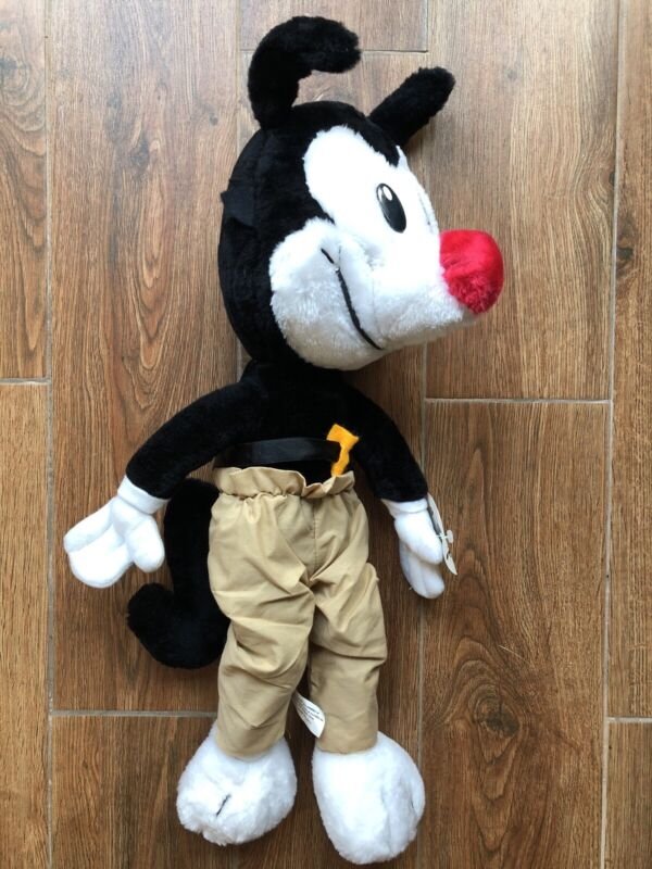 Vtg 1995 ACE Novelty Warner Bros Animaniacs Yakko Plush (small hole in face)