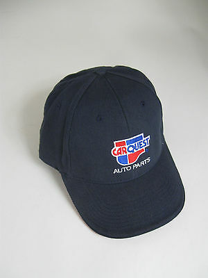 Carquest Auto Parts Navy Blue Buckle Back Strap Baseball Cap Hat Adjustable
