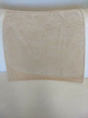 "POTTERY BARN WASHED VELVET PILLOW COVER 20"" Lambswool Tan cream NEW"