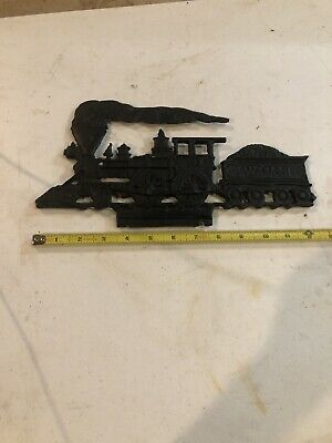 Vintage Wabash Steam Engine Folk Art Train Locomotive Weather Vane Cast Aluminum