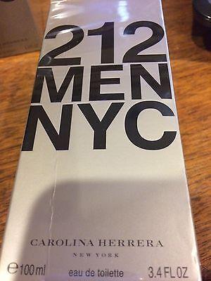 212 by Carolina Herrera * Cologne for Men * 3.4 oz * BRAND NEW