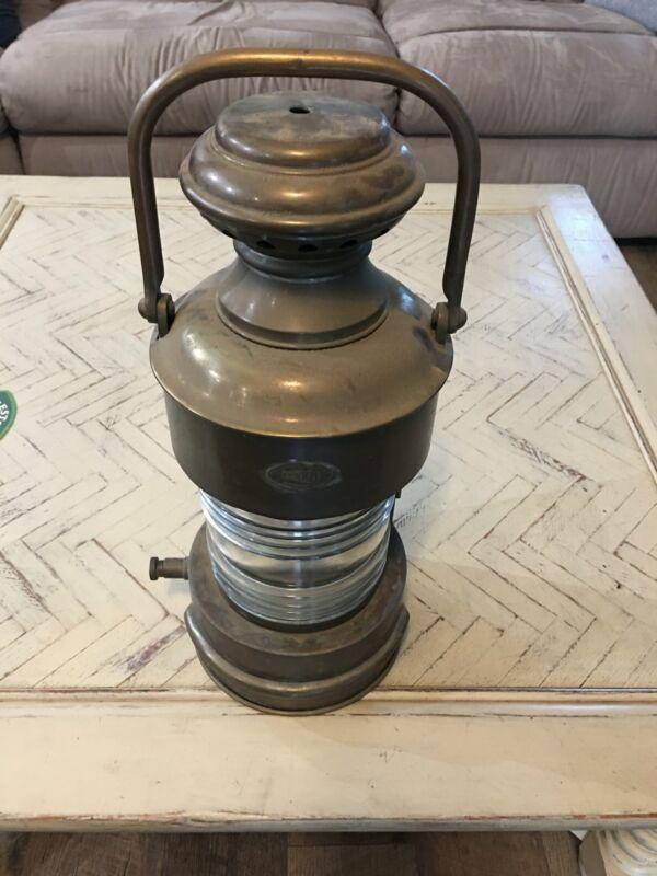 PERKINS PERKO TORPEDO DESTROYER BOAT KEROSINE MASTHEAD LAMP BRASS AMAZING