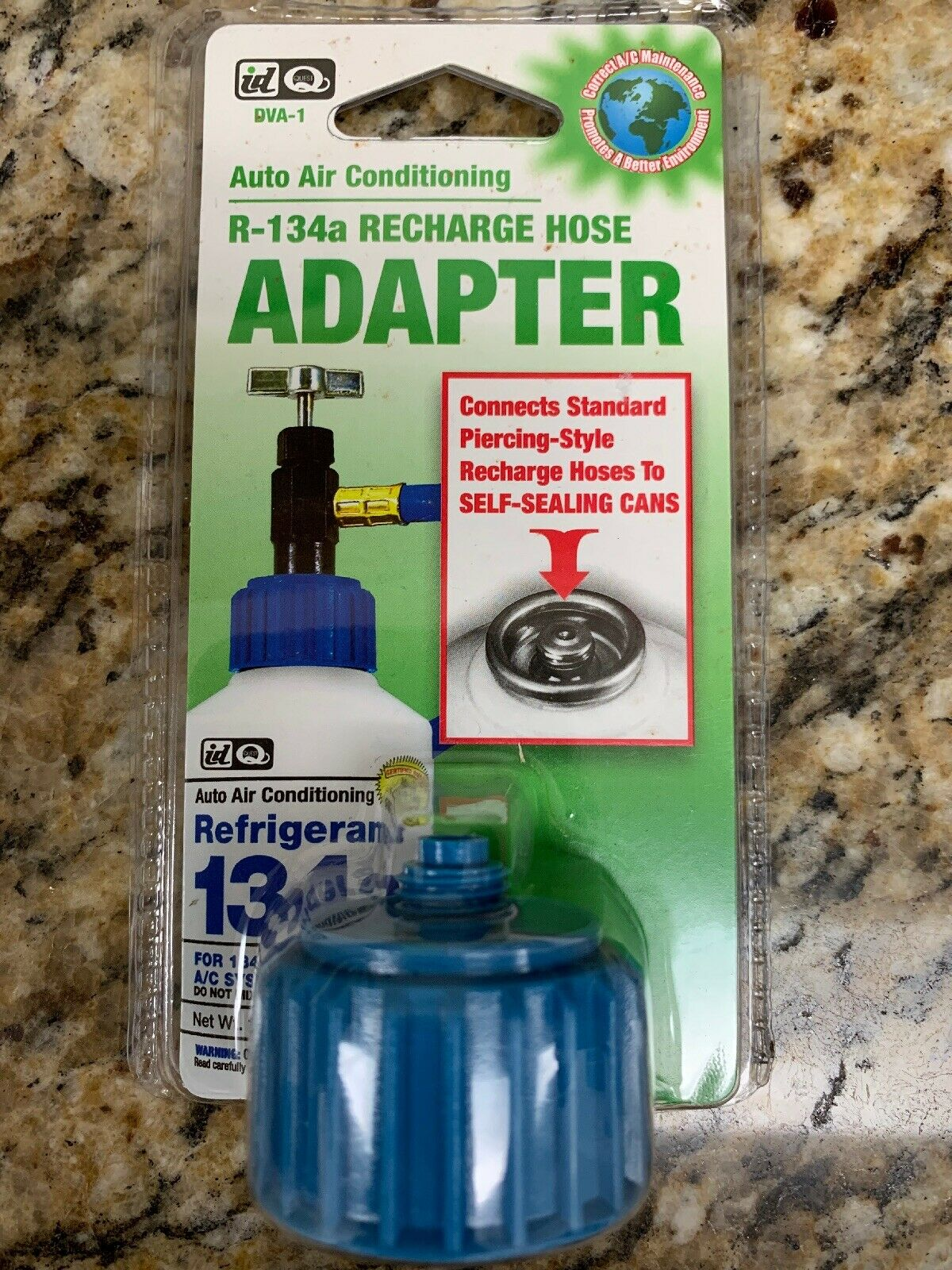 DVA1 R-134a Self-Sealing Can tapper Adapter Recharge Hose Interdynamics