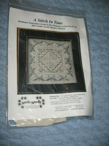 Nordic Needle Hardanger Embroidery Kit A Stitch In Time Blue White