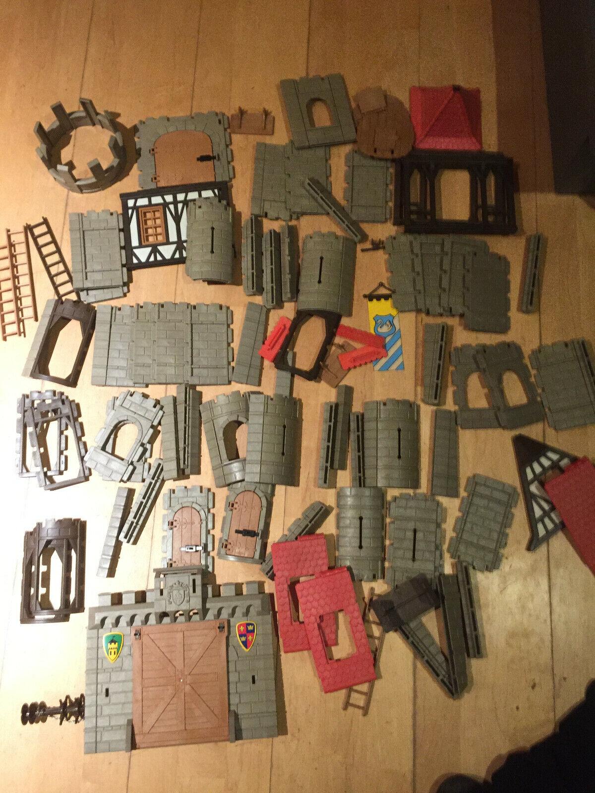 Playmobil 3666 3667 alte Ritterburg 3450-Ersatzteile -Tor,Stützen,Fenster,Wand