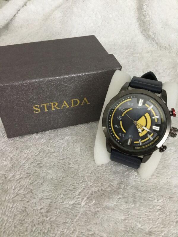 Strada+Japanese+Movement+Water+Resistance+Navy%2FBronze+Watch+New+7.5%2F9%E2%80%9D