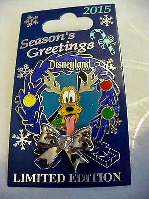 Disneyland Christmas Holiday 2015 Pin Reindeer Pluto LE 2000 with Free Shipping
