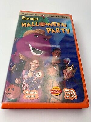 Barney's Halloween Party - VHS Tape VCR Tape - Rewound Clam Shell - Halloween Party Barney