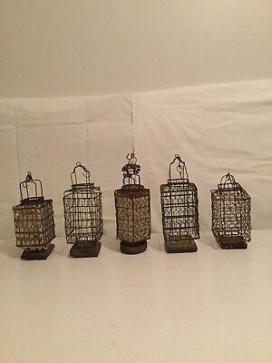 Vintage Japanese wire Lanterns