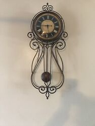 STERLING & NOBLE WROUGHT IRON WALL CLOCK