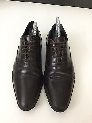 Versace Mens Brown Leather Smart Shoes Brogue Size Uk 6 Eu 40 In Gc