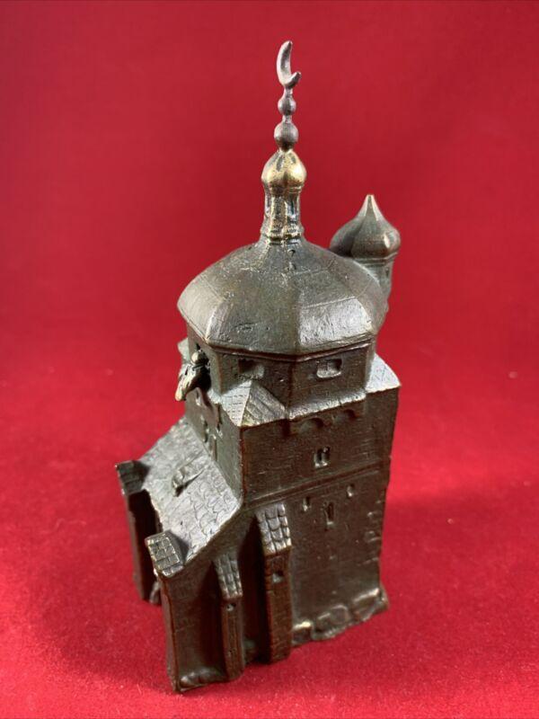 Vintage Russian Church Metal Souvenir Building