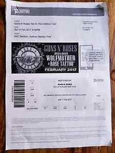 Guns and roses tickets Saturday 11th February 2017 Campsie Canterbury Area Preview