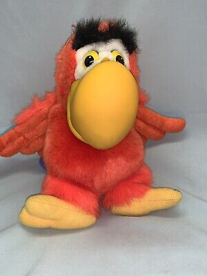 "Vtg DISNEY Aladdin Lago Plush Parrot Bird Hand Puppet 14"" Rare Applause EUC"