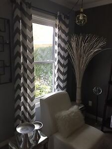Grey and white stylish curtains